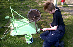 Painting wheelbarrows