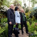Sir Michael Caine and his wife Shakira with Rev Tim Selwood