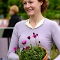 Geraldine Somerville with Osteospurmum 'In The Pink'