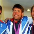 Iain Percy, Andrew Simpson and Ben Ainslie