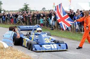 Jody Scheckter in the six-wheeled Tyrrell P34