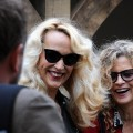 Jerry Hall at the Gaze Burvill stand