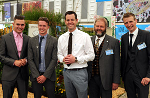 The Sparsholt team with Matt Baker
