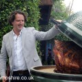 Diarmuid Gavin with the Big Green Egg