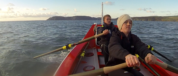 Lawrence Walters(L) and Tom Rainey (R) training in row boat. Photo by Ocean Valour