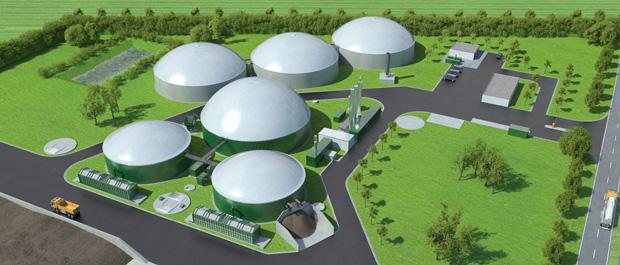 3D Visualisierung Biogasanlage Stassfurt