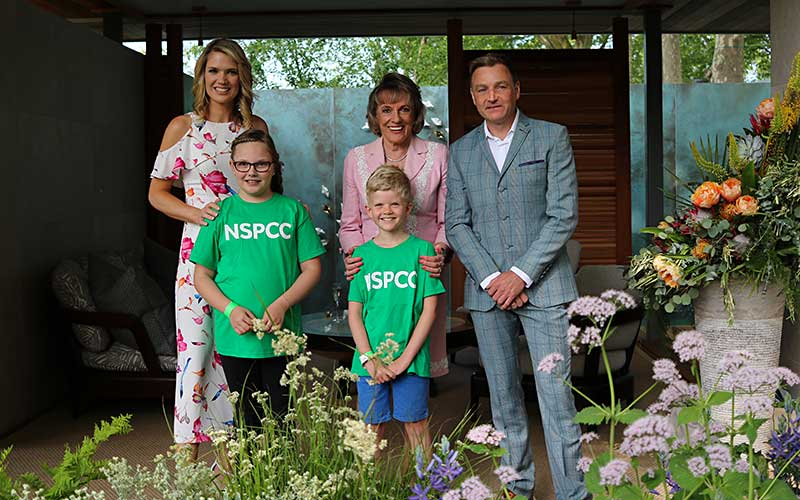 Chris Beardshaw in the NSPCC Garden