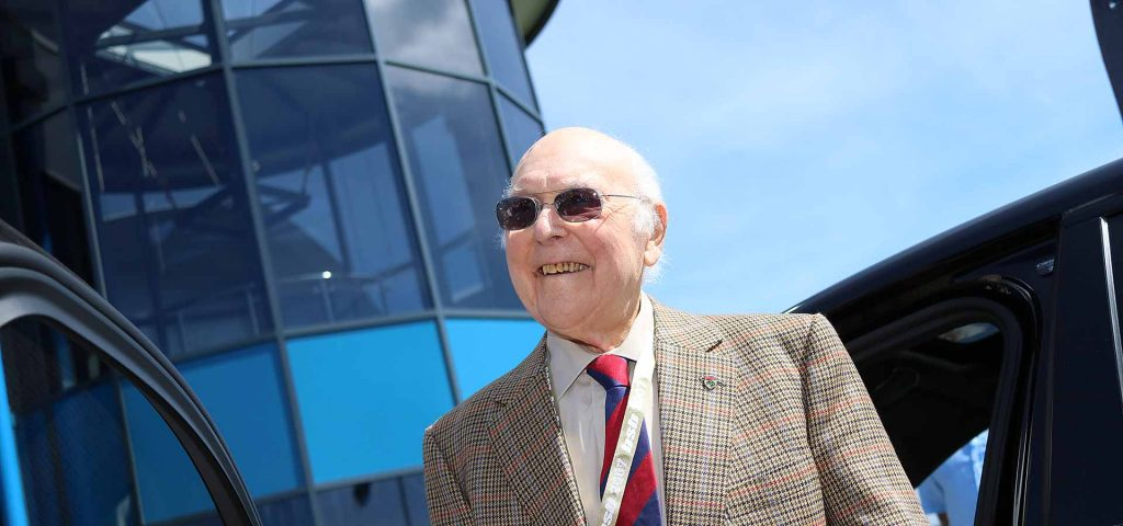 Murray Walker at Thruxton Circuit