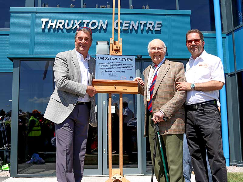 Nigel Mansell CBE and Murray Walker OBE open the Thruxton Centre