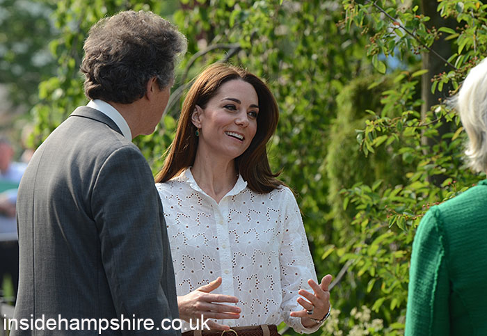 HRH The Duchess of Cambridge in the RHS garden
