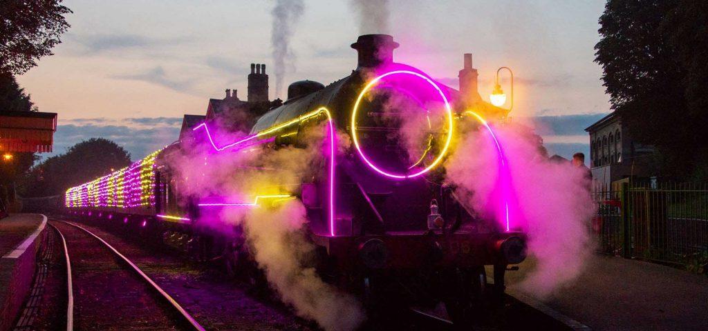 Photo: 2020's Steam Illuminations. Photographed by Tony Storey